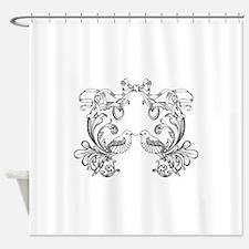 European pattern line art Shower Curtain
