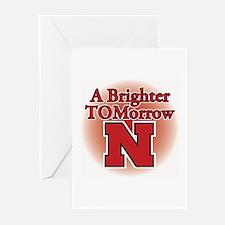 A Brighter TOMorrow for Nebraska Greeting Cards (P