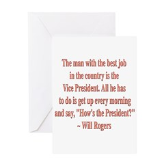 Will Rogers President Quote Greeting Card