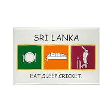 Eat,sleep,cricket Magnets