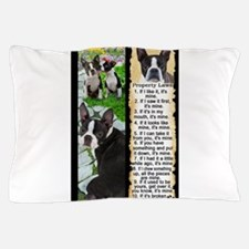 Cute Boston terrier black Pillow Case