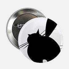 "Black cat posing backside 2.25"" Button"
