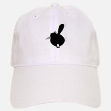 Black cat posing backside Baseball Baseball Cap