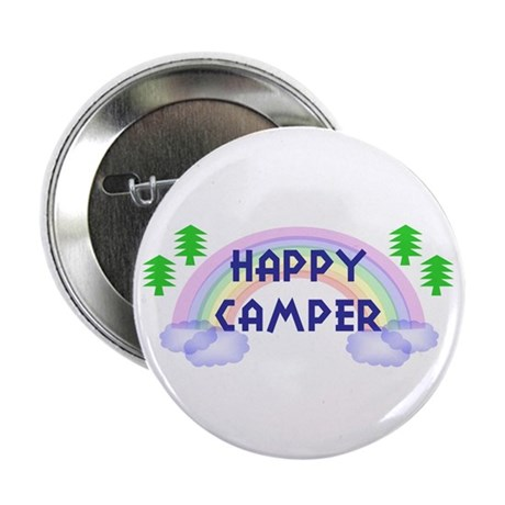 """""""Happy Camper"""" 2.25"""" Button (10 pack)"""