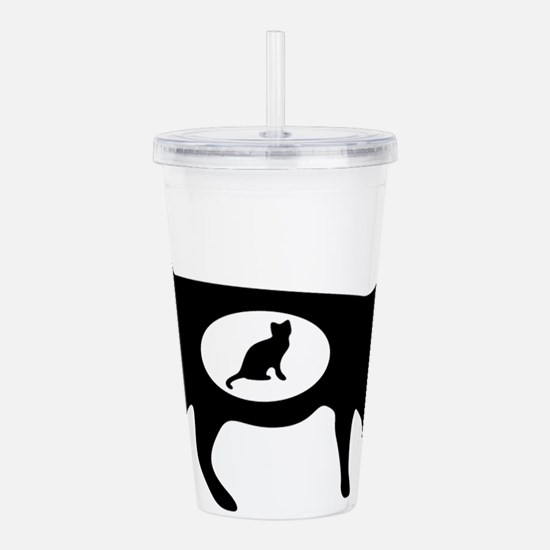 Elegant cat icon art Acrylic Double-wall Tumbler