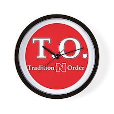 Nebraska Tradition N Order Wall Clock