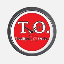 Nebraska Tradition N Order Wall Clock