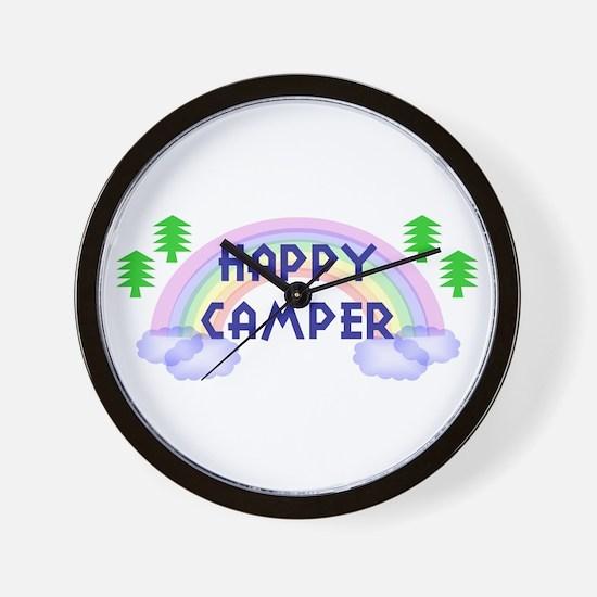 """Happy Camper"" Wall Clock"