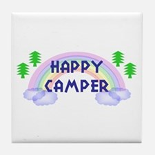 """""""Happy Camper"""" Tile Coaster"""