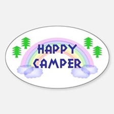 """Happy Camper"" Oval Decal"