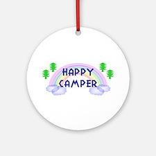 """Happy Camper"" Ornament (Round)"