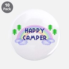 """Happy Camper"" 3.5"" Button (10 pack)"