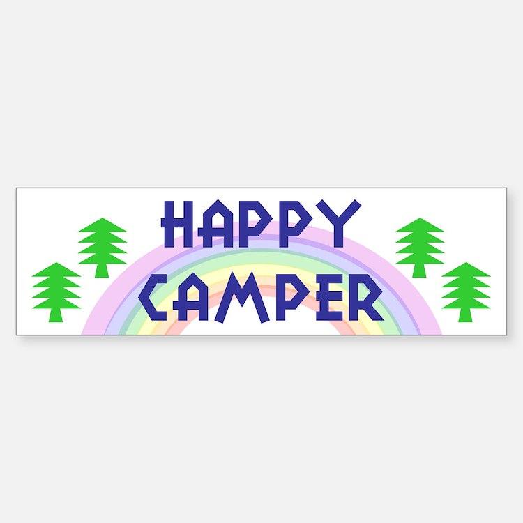 """""""Happy Camper"""" Bumper Bumper Bumper Sticker"""