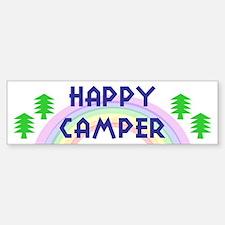 """""""Happy Camper"""" Bumper Car Car Sticker"""