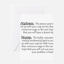Waitress/Nurse Greeting Cards