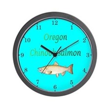 Oregon Chinook Salmon Wall Clock