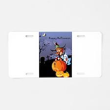 Halloween theme design illu Aluminum License Plate