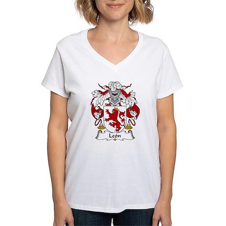 León Women's V-Neck T-Shirt