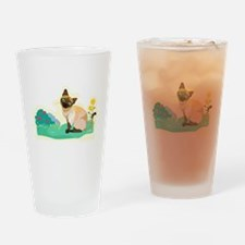 Siamese cat Drinking Glass