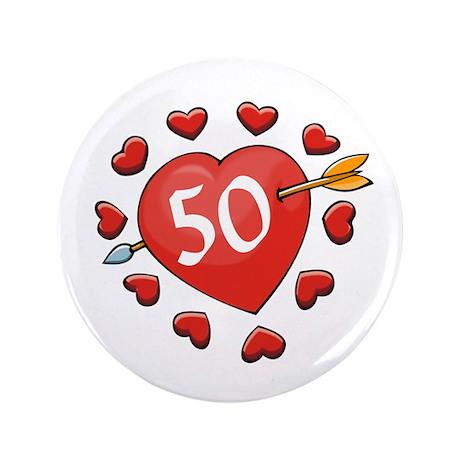 """50th Valentine 3.5"""" Button"""