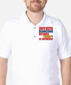 Country Western dancing Because Therapy T-Shirt