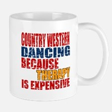 Country Western dancing Because Therapy Mug