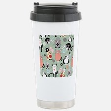 Naughty cat pattern Travel Mug