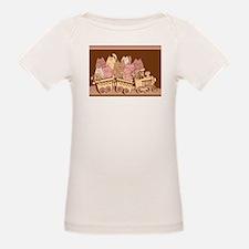 Amusing cartoon toy train cats design T-Shirt