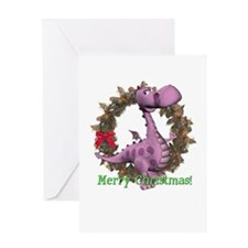 Dusty Dragon Christmas Card