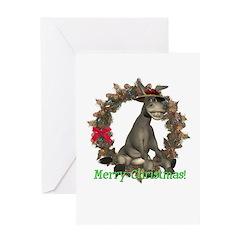 Donkey Christmas Card