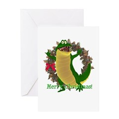 Crawley Croc Christmas Card