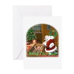 Praying Santa Christmas Card