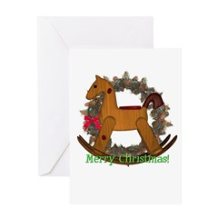 Rocking Horse Christmas Card