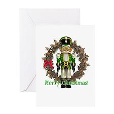 Nutcracker (Green) Christmas Card
