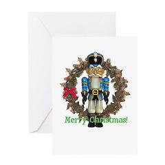 Nutcracker (Blue) Christmas Card