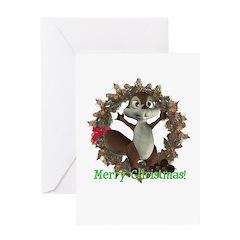 Nickie Squirrel Christmas Card