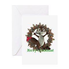 Nickie Squirrel Christmas Card