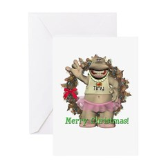 Heather Hippo Christmas Card