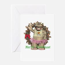 Heather Hippo Christmas Card