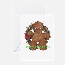 Gingerbread Man Christmas Card