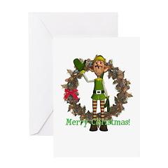 Elf Christmas Card