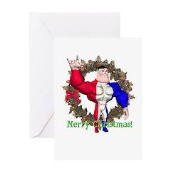 Alpha Man Christmas Card