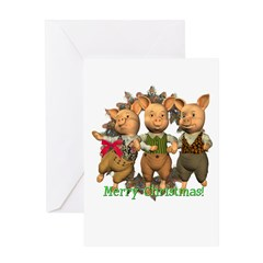 The Three Little Pigs Christmas Card