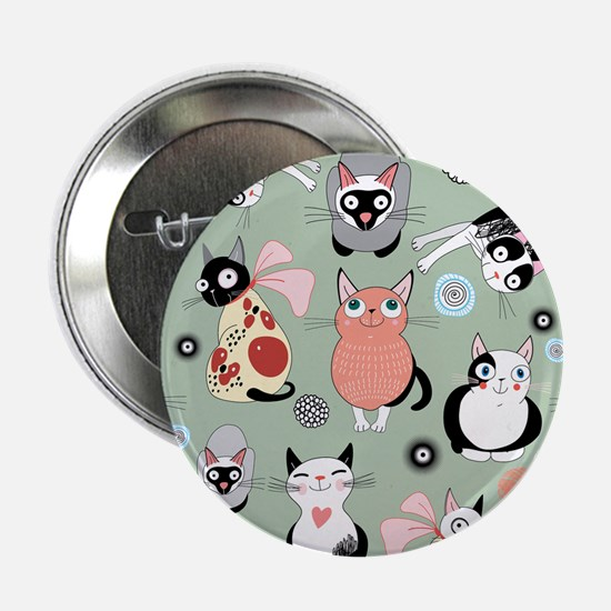 """Funny cartoon cat design pa 2.25"""" Button (10 pack)"""