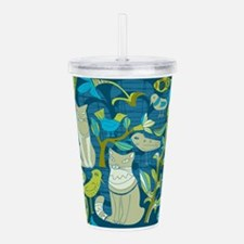 Cat theme Acrylic Double-wall Tumbler