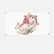 Cute cat design Banner