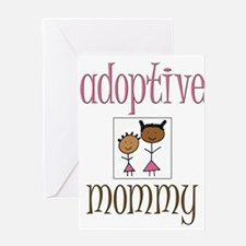 Pink Adoptive Mommy Greeting Card