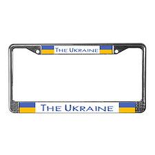 """""""Ukraine Flag"""" License Plate Frame"""