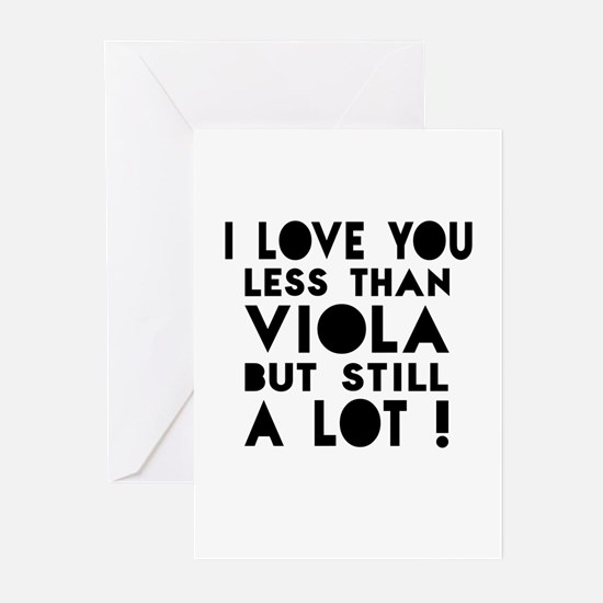 I Love You Less Than Vio Greeting Cards (Pk of 20)