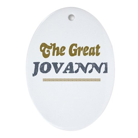 Jovanni Oval Ornament